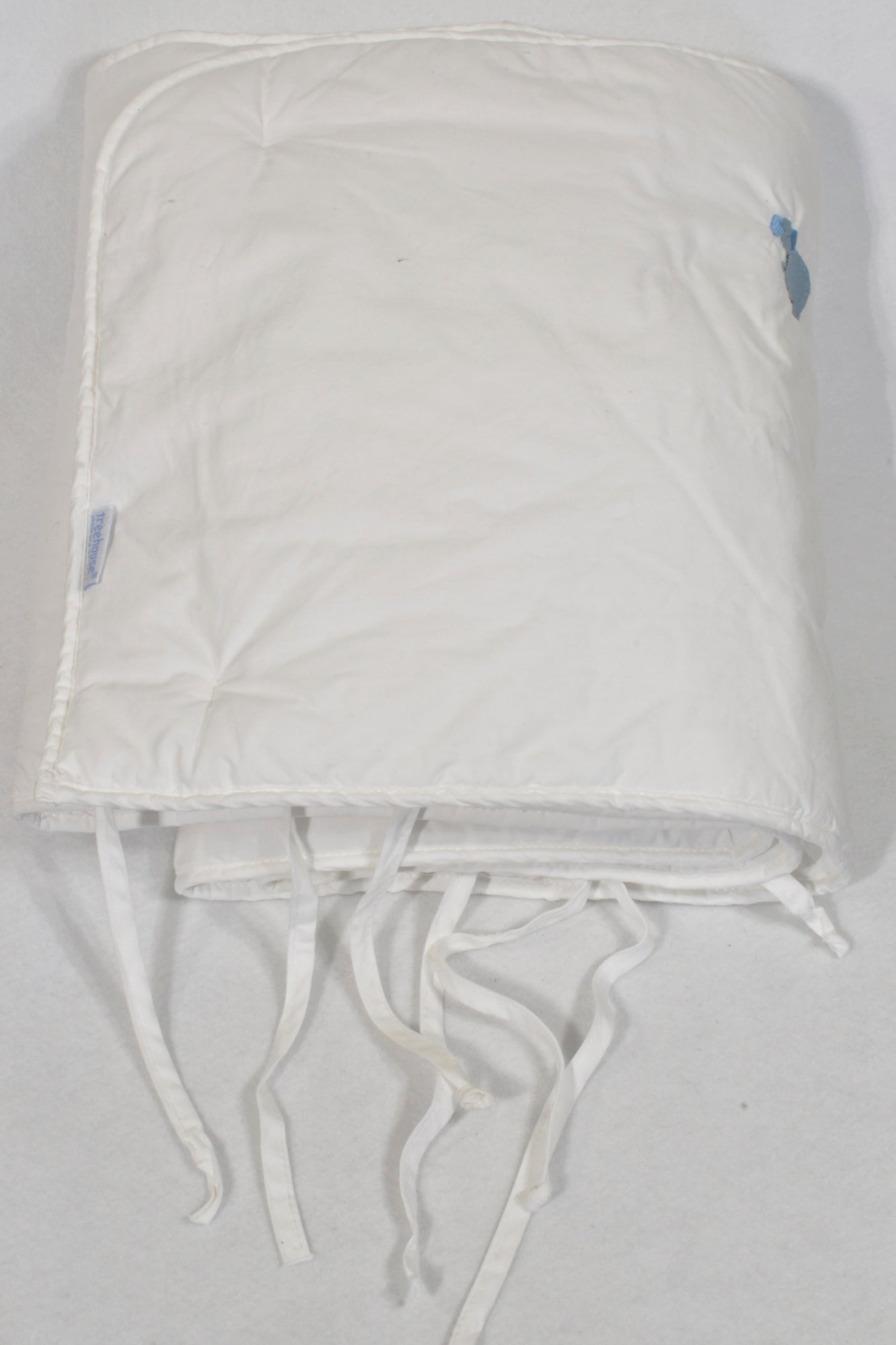 Tree House Padded White Embroidered Animal Cot Bumper Bedding Unisex N-B