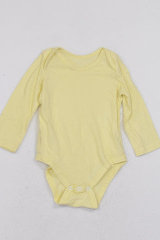 Clicks Yellow Basic Baby Grow Unisex 6-12 months