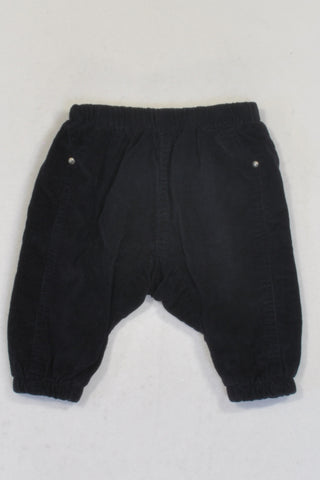 Cotton On Lined Navy Harem Corduroy Pants Unisex 3-6 months