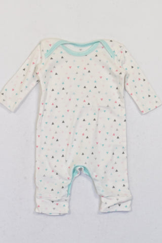 Woolworths White Triangle  Onesie Girls N-B