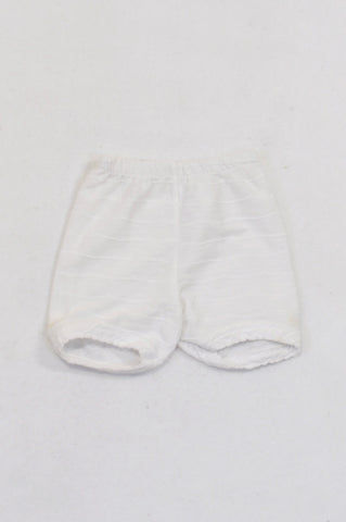 White Stitched Stripe Shorts Girls N-B