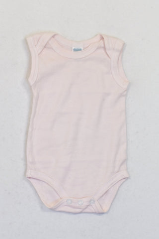Ackermans Baby Pink Basic Sleeveless Baby Grow Girls 0-3 months