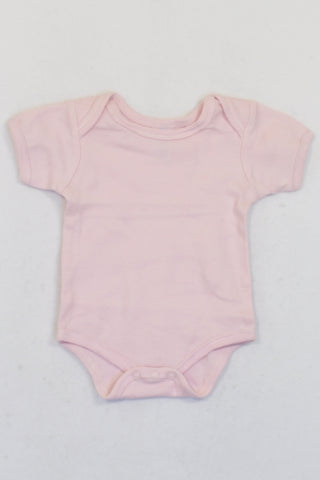 Ackermans Soft Baby Pink Short Sleeve Baby Grow Girls 0-3 months