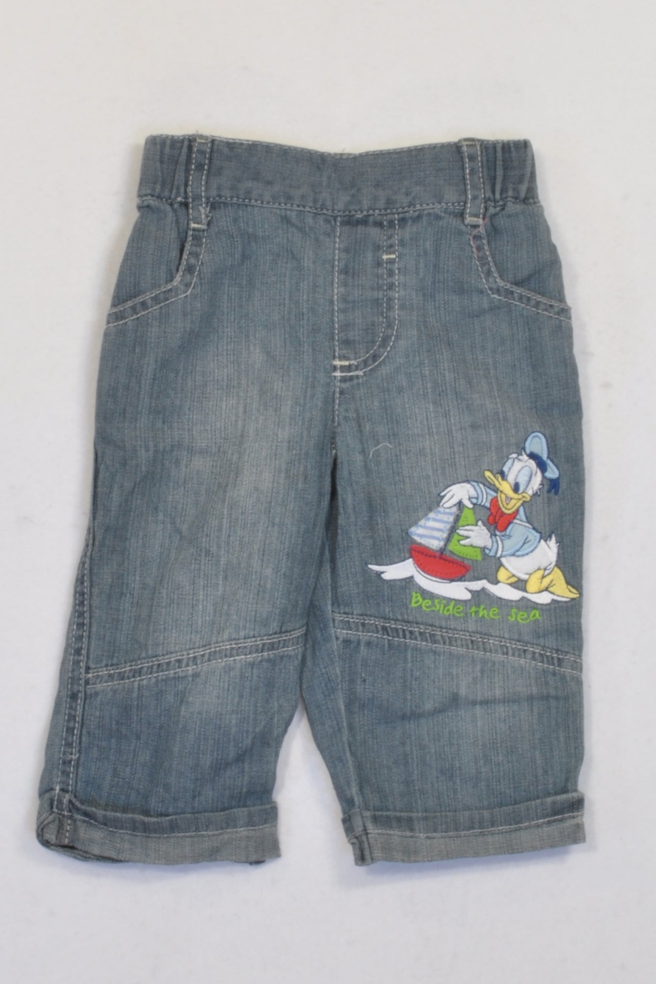 Disney Donald Duck Stone Wash Jeans Boys 3-6 months