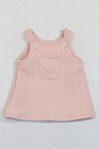 Woolworths Pink Textured Cable Knit Patterned  Dress Girls 0-3 months