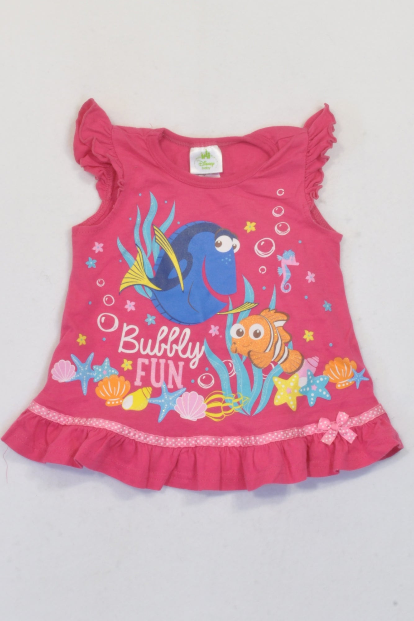 Edgars Pink Bubbly Fun Dory & Nemo Top Girls 9-12 months