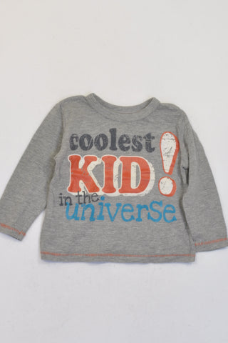 Woolworths Grey Coolest Kid In The Universe T-shirt Boys 12-18 months