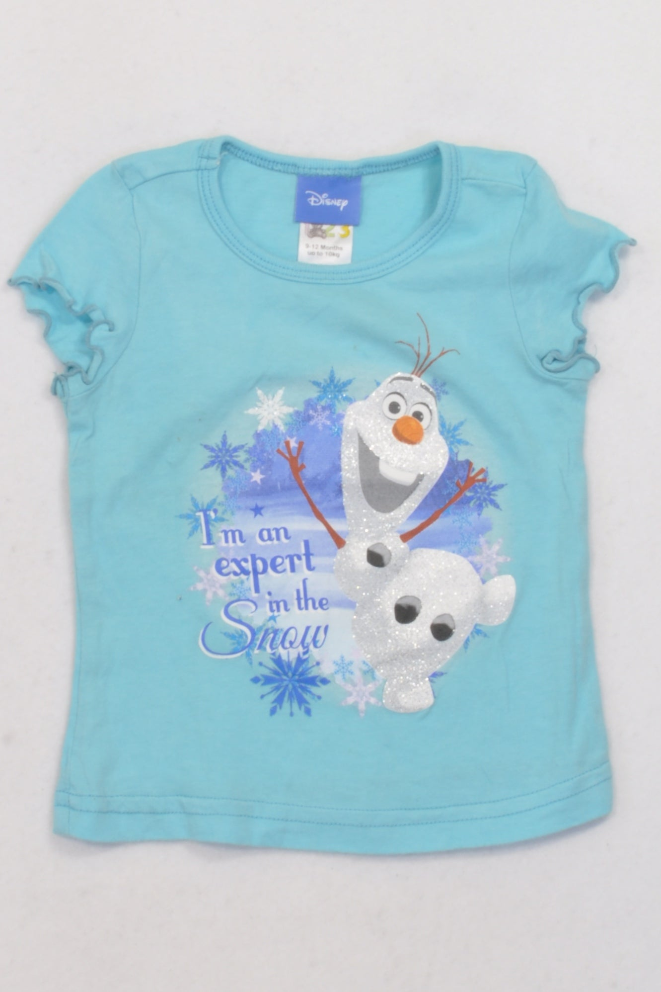 Edgars Blue Olaf Snow Expert T-shirt Girls 9-12 months