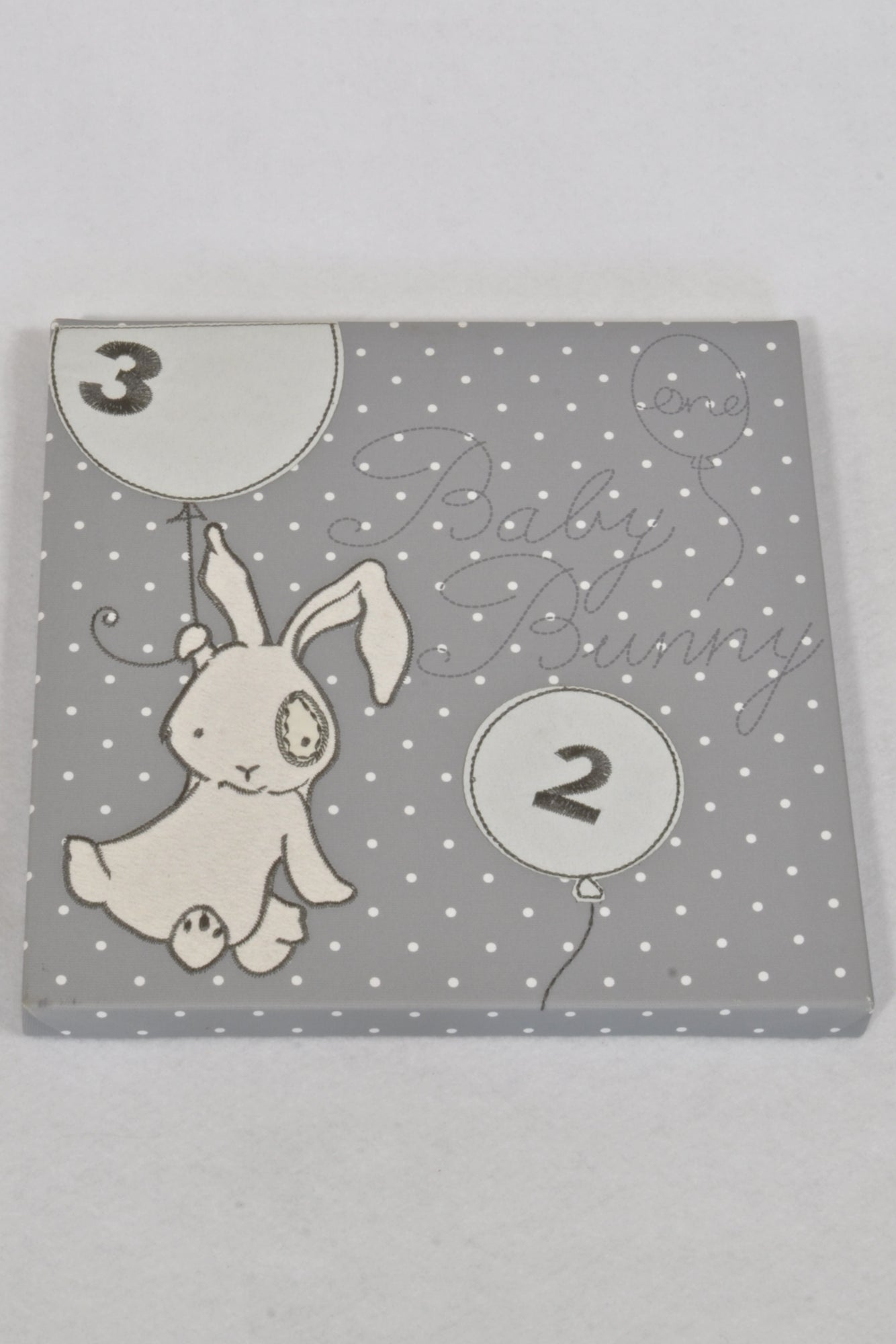 Grey & White Baby Bunny Wall Decor Unisex N-B