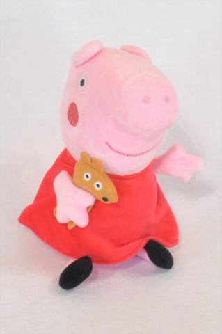 Red Dress Peppa Pig Plush Toy Girls All Ages