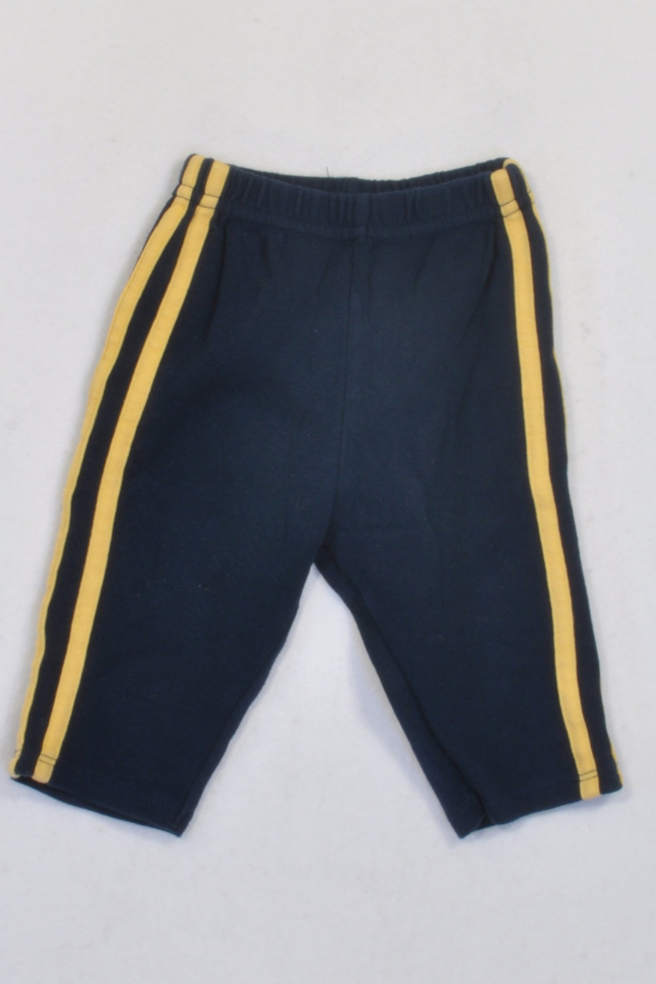 Vitamins Baby Navy & Yellow Stripe Track Pants Boys 3-6 months