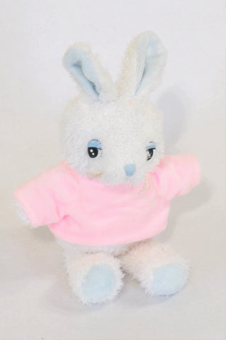 White Furry Pink Tee Bunny Plush Toy Girls All Ages