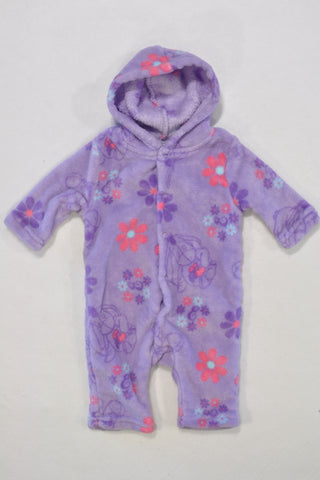 Disney Purple Eeyore Fleece Onesie Girls 0-3 months