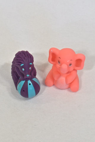 Unknown Brand Set: Purple Porcupine & Pink Ellie Bath Toy Unisex 1-2 years