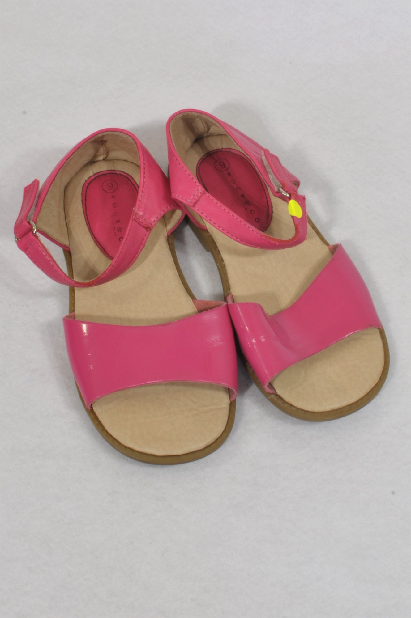 Rock & Co Size 9 Hot Pink Wide Strap Sandals Girls 3-4 years