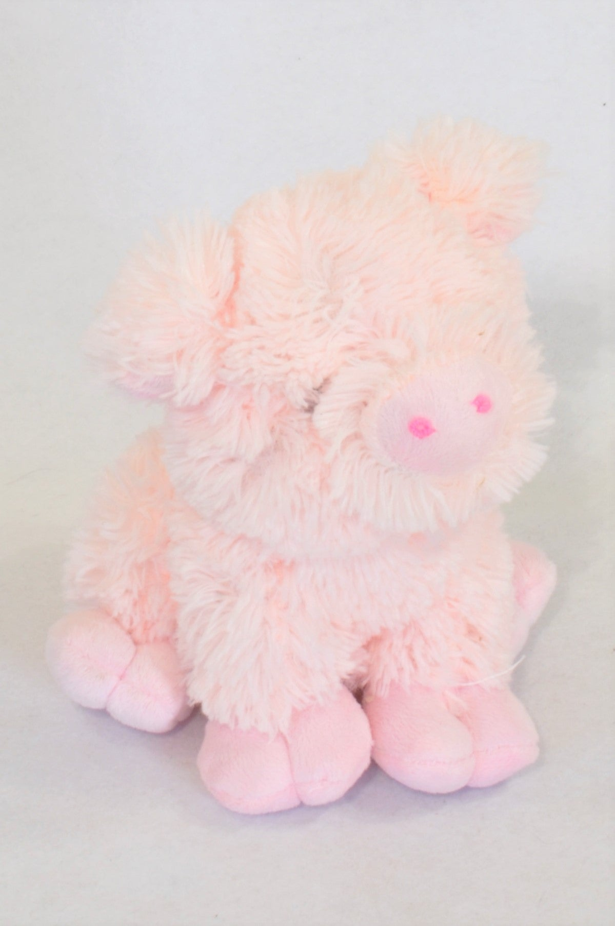 Pink Fluffy Pig Soft Toy Girls All Ages