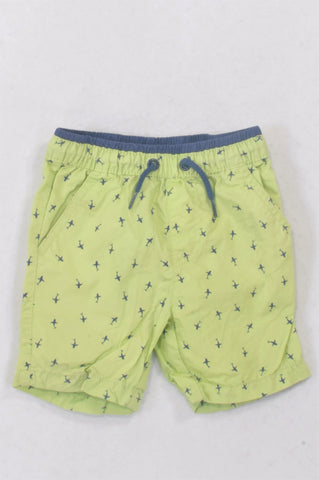 Woolworths Green Shark Swim Shorts Boys 18-24 months