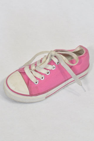 Alive Pink Tekkies Size 9.5 Lace Up Shoes Girls 3-4 years