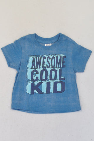 New Ackermans Blue Awesome Cool Kid T-shirt Boys 3-6 months