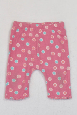 Pick 'n Pay Rose Pink Dotty Leggings Girls N-B