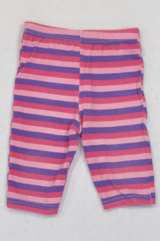 PEP Pink And Purple Striped Leggings Girls 3-6 months