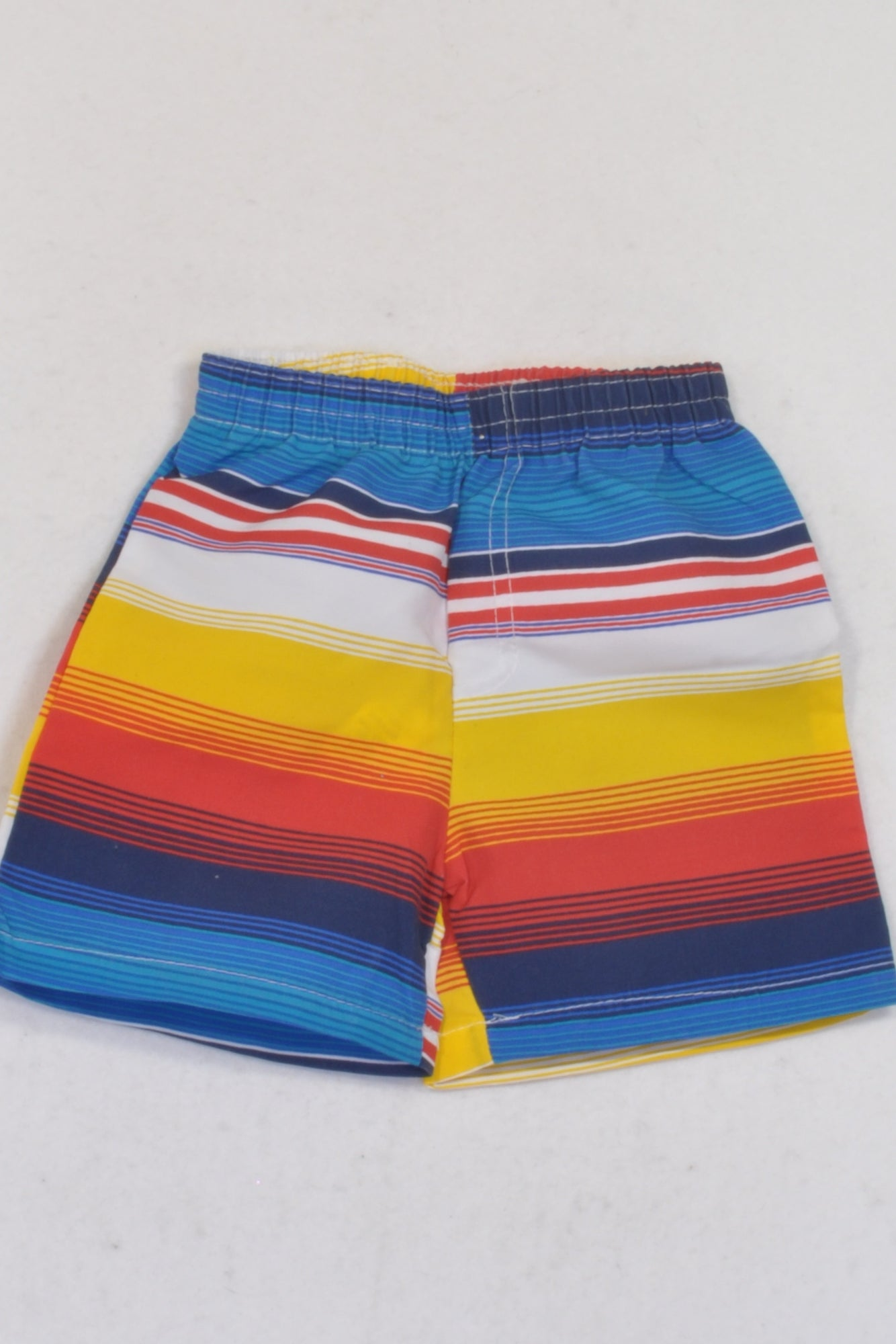 Pep Lightweight Blue & Yellow Stripe Shorts Boys 3-6 months
