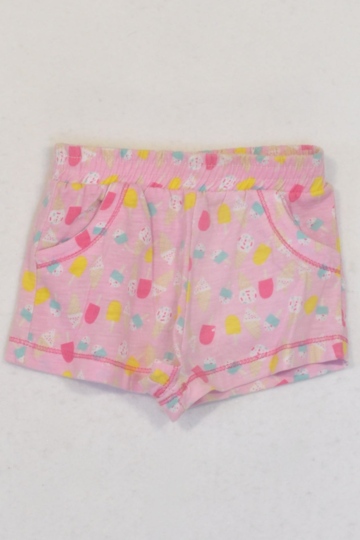 Pep Pink Ice-cream Play Shorts Girls 3-6 months