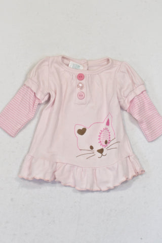 Pick 'n Pay Baby Pink Kitty Top Girls N-B