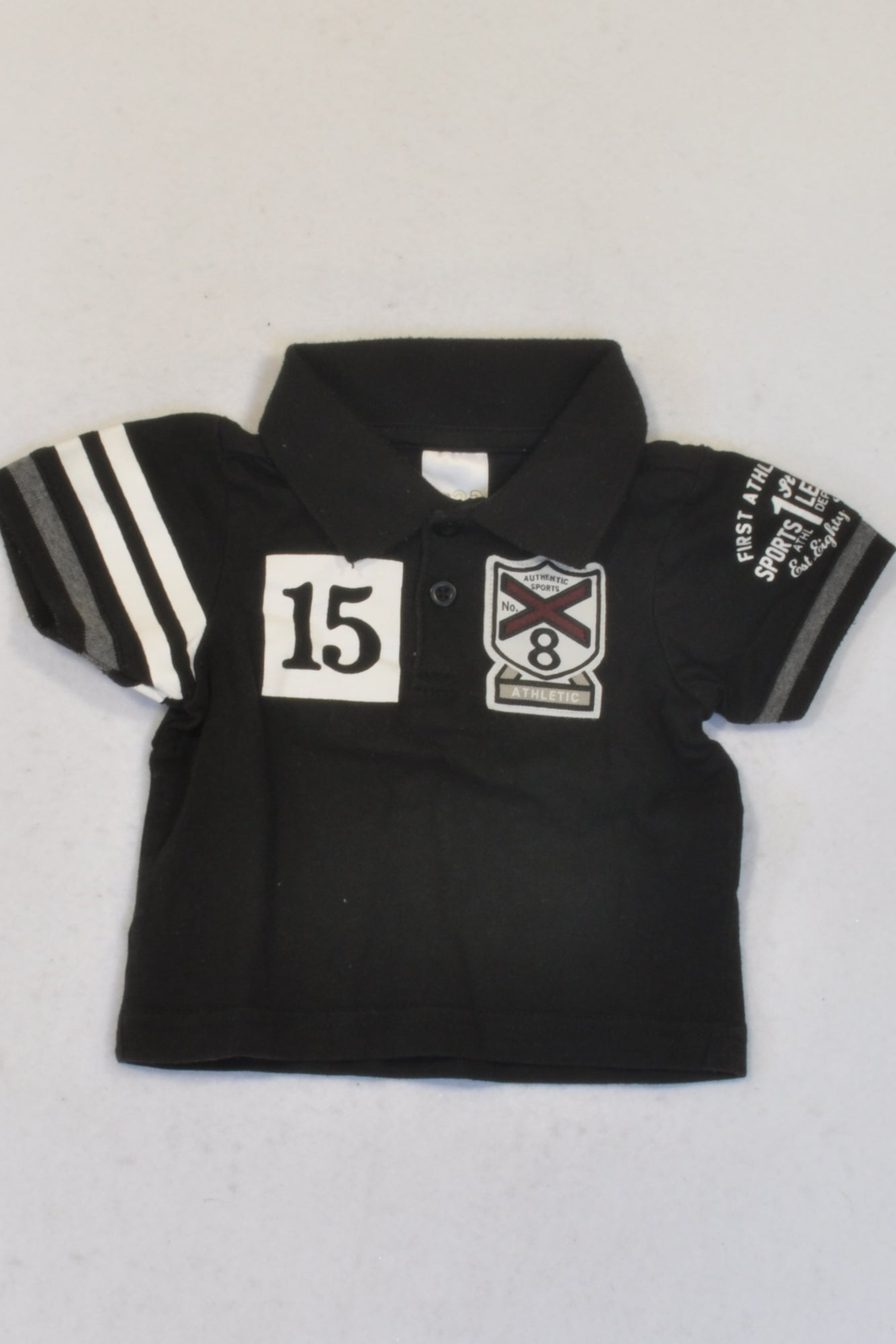 Edgars Black Authentic Athletic Golf Shirt Boys 6-9 months