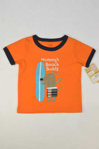 New Carter's Mommy's Beach Buddy T-shirt Boys 6-9 months