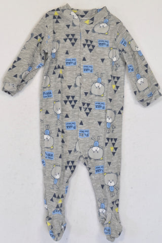 Woolworths  Grey Fuzz the Bear Onesie Boys 3-6 months