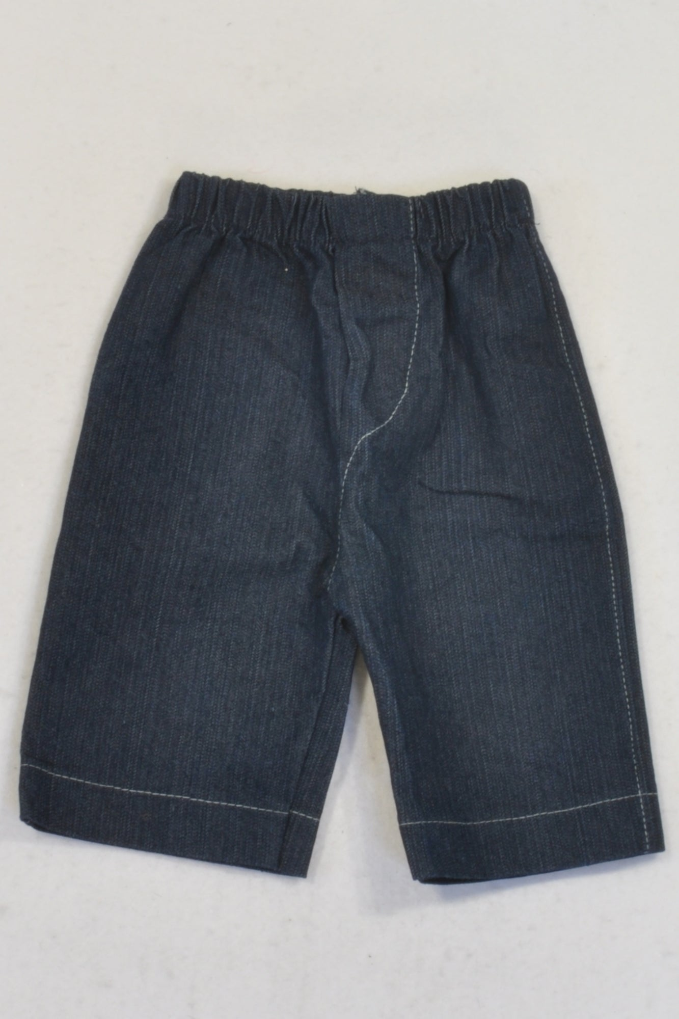 New Unknown Brand Dark Denim Wide Leg Jeans Girls 0-3 months