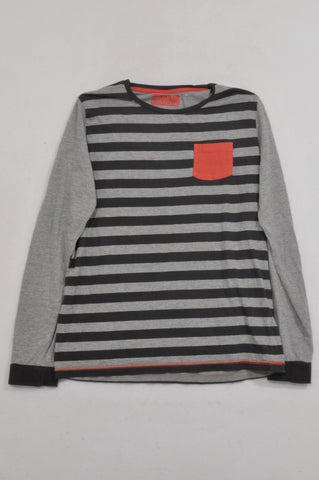 Marks & Spencers Charcoal Orange Pocket T-shirt Boys 13-14 years