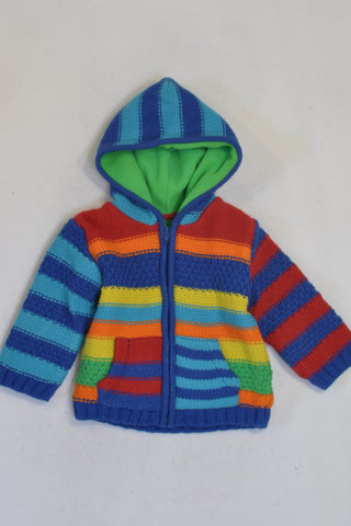 New Woolworths Colourful Thick Knit Hooded Jersey Unisex 12-18 months