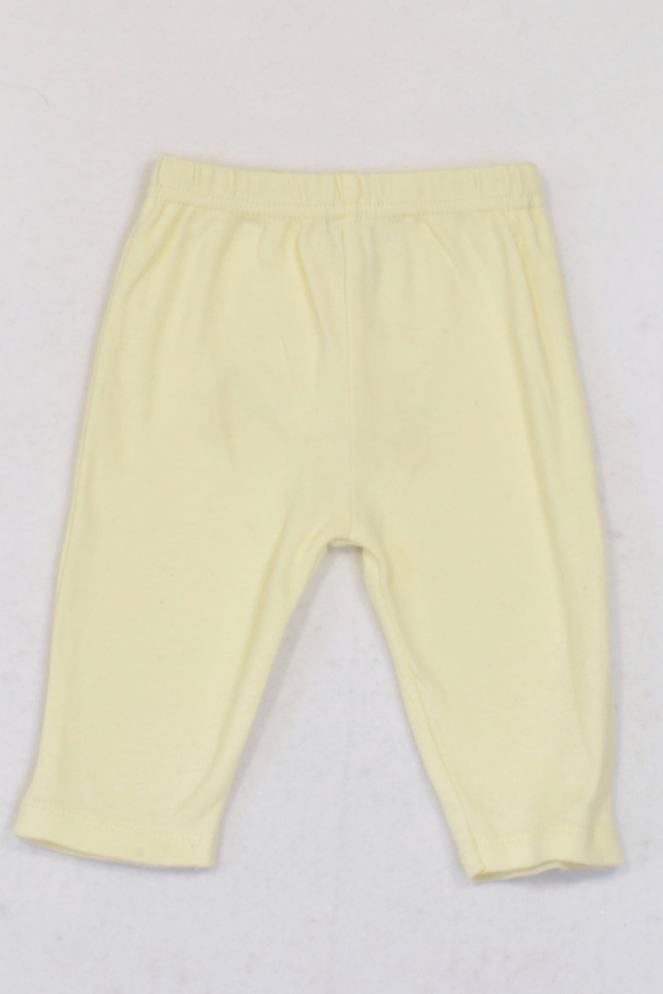 René Rofé Baby  Yellow Star Bum Leggings Girls 0-3 months