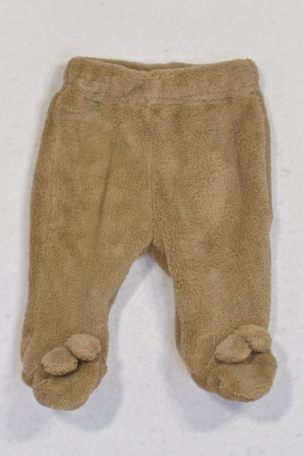 Ackermans Brown Fleece Footed Bunny Leggings Unisex N-B