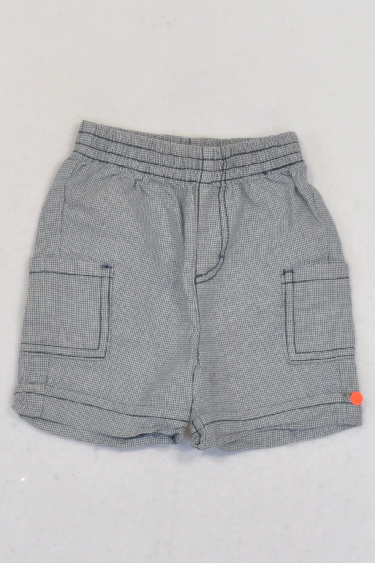 Ackermans Ink Blue Houndstooth Shorts Boys 3-6 months