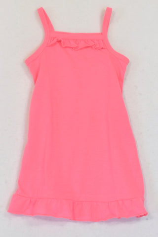 Jet Neon Pink Strappy Dress Girls 6-12 months
