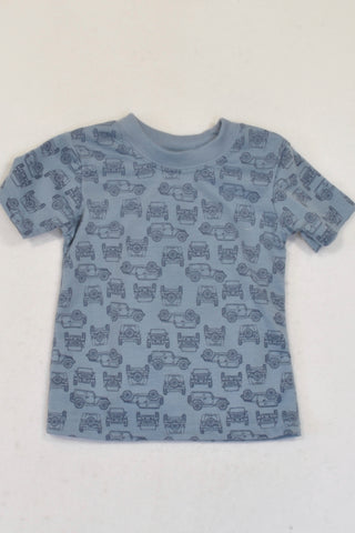 PEP Blue Grey Jeep T-shirt Boys 6-12 months