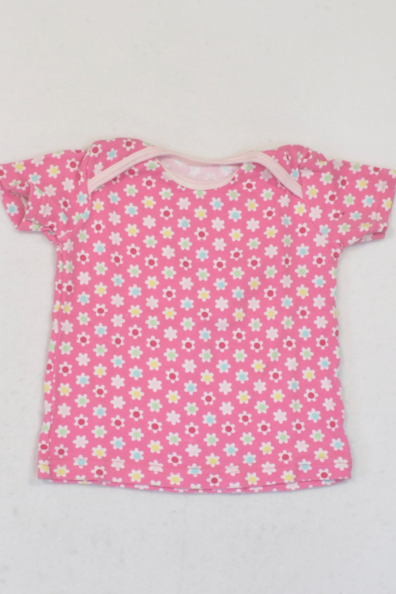 Unknown Pink Floral Print T-shirt Girls 6-12 months