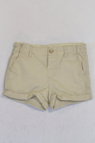 H&M Beige Chino Shorts Girls 12-18 months
