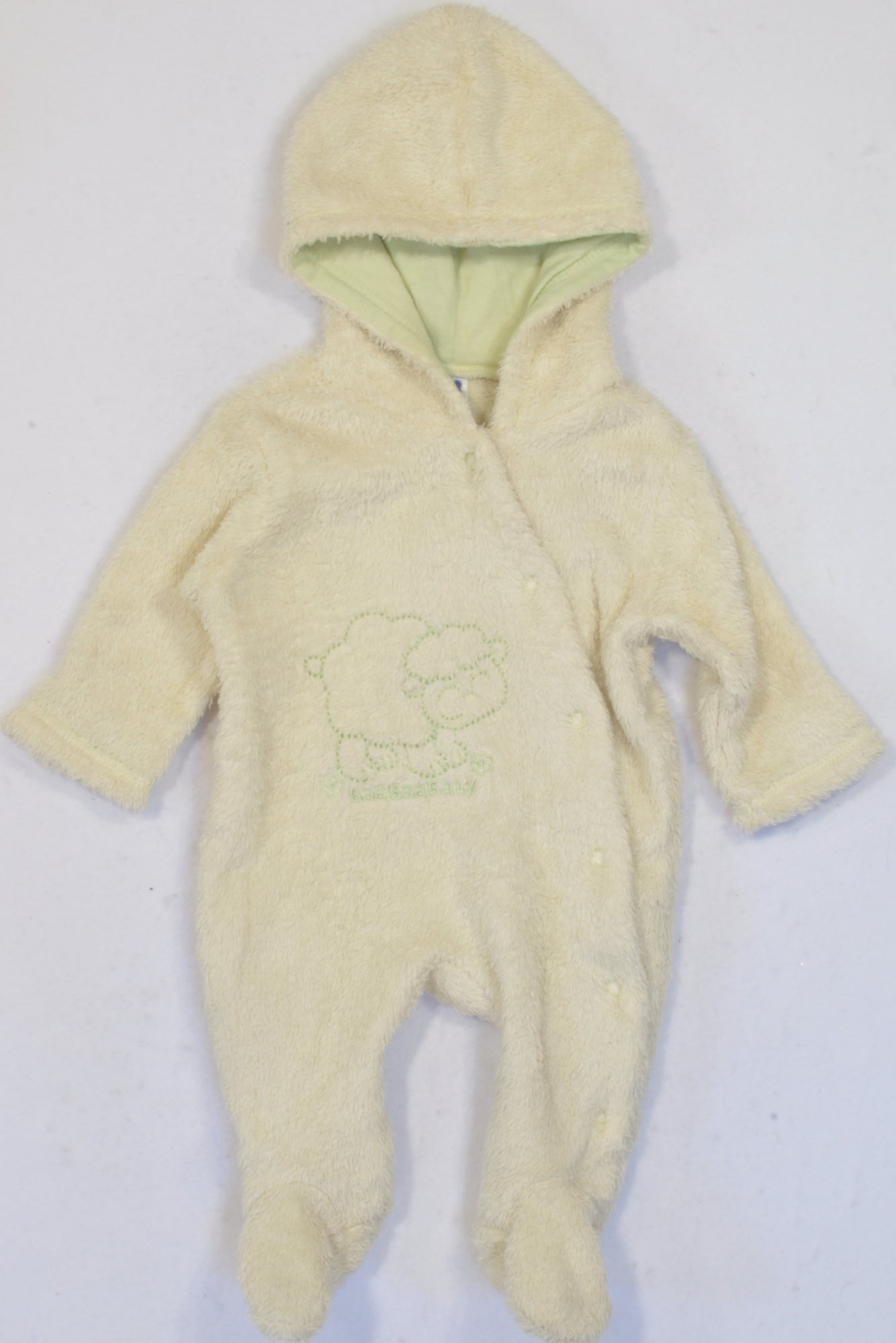 Ackermans Hooded Yellow Furry Fleece Sheep Onesie Unisex N-B