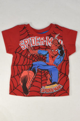 Spiderman Web T-shirt Boys 3-6 months