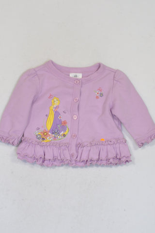 Disney  Purple Rapunzel Buttoned Frill Jersey Girls 6-9 months