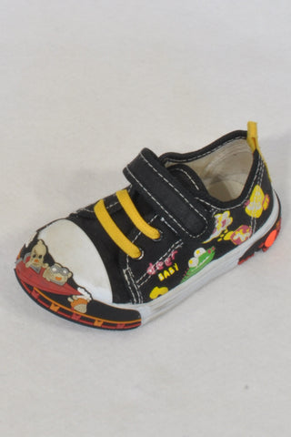 Kids Seaside Black & Yellow Anime Character Size 6 Shoes Boys 2-3 years