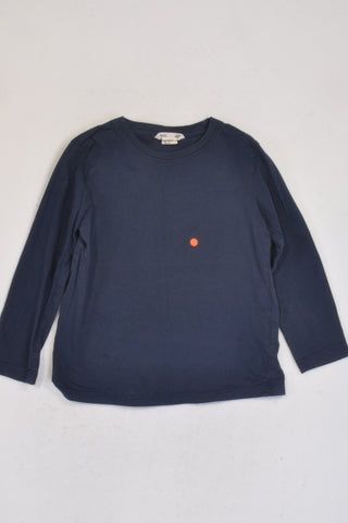 H&M Basics Navy Long Sleeve T-shirt Unisex 3-4 years