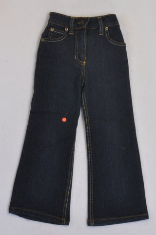 Lil 'Chic' Dark Denim Flare Stretch Jeans Girls 2-3 years