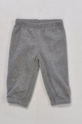 Carters Grey Fleece Track Pants Unisex 3-6 months