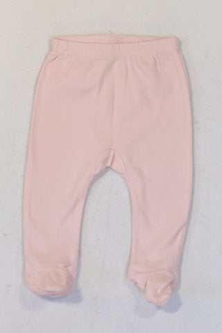 New Ackermans Baby Pink Footed Leggings Girls 3-6 months