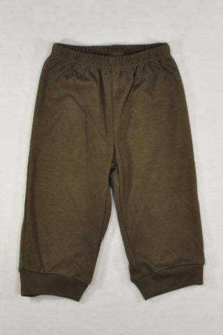 New Carter's Lightweight Brown Track Pants Unisex 3-6 months